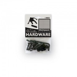 "Mosaic Hardware Bolts 1"" black"